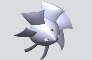 Aerospace-electric-motor-cooling-fan-UAV-ECA-drone-3D-printing